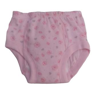CE0402 Calzón entrenador de Flores color rosa