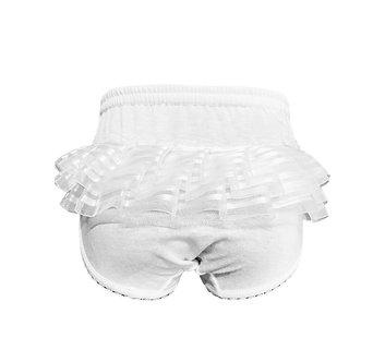 Calzón color blanco con encaje trasero