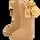 Thumbnail: BC86 Calceta lisa mostaza con moño