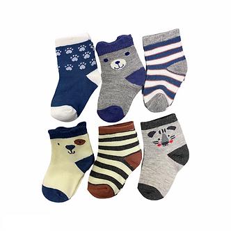 BC23 Paquete de 6 pares de calcetines - Osito