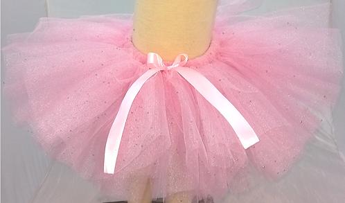 Tutú Glitter rosa baby