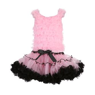 T15 Vestido Tutú rosa con negro