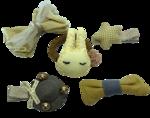 BROCH15 Set conejo amarillo