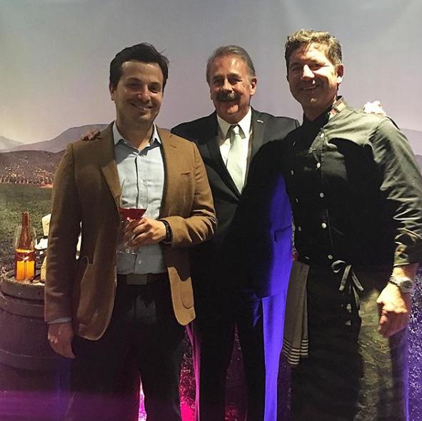 Fernando Perez Castro, Oscar Escobedo Carignan, Secretario de Turismo de Baja California y el Chef Miguel Angel Guerrero