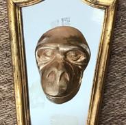 Tête de singe sur miroir II