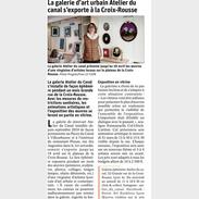 La galerie d'art urbain Atelier du Canal s'exporte à ala Croix-Rousse - Le Progrès mars 2021