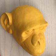 Tête de singe jaune