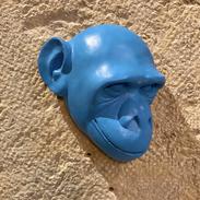 Tête de singe bleue
