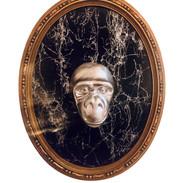 Portrait sculpture marbré