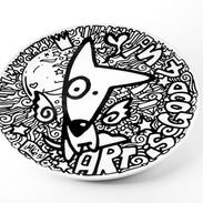 "Assiette plat ""Art is good 4 u !"""