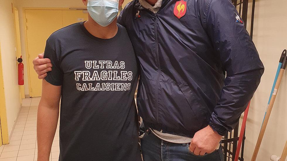 Ultras Fragiles Calaisiens - Tee-shirt Bleu Navy Homme