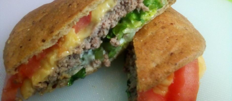 Pita Pocket Cheeseburger