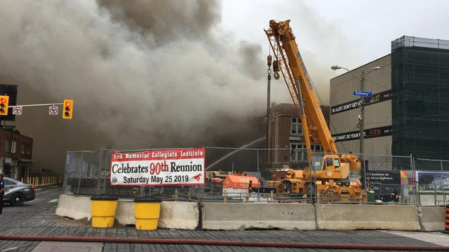 Fire heavily damages 90-year-old Toronto high school