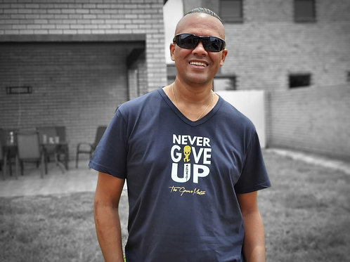 Dj Jazzy D Never Give Up Tshirt