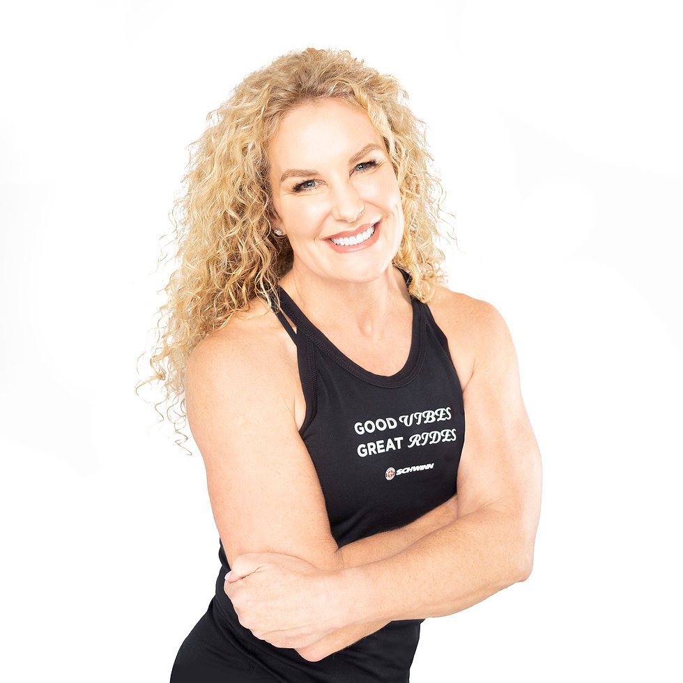 Middle aged white woman healthy happy and beautiful fitness female athlete in sportswear w