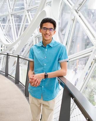 Male High School Senior Portrait