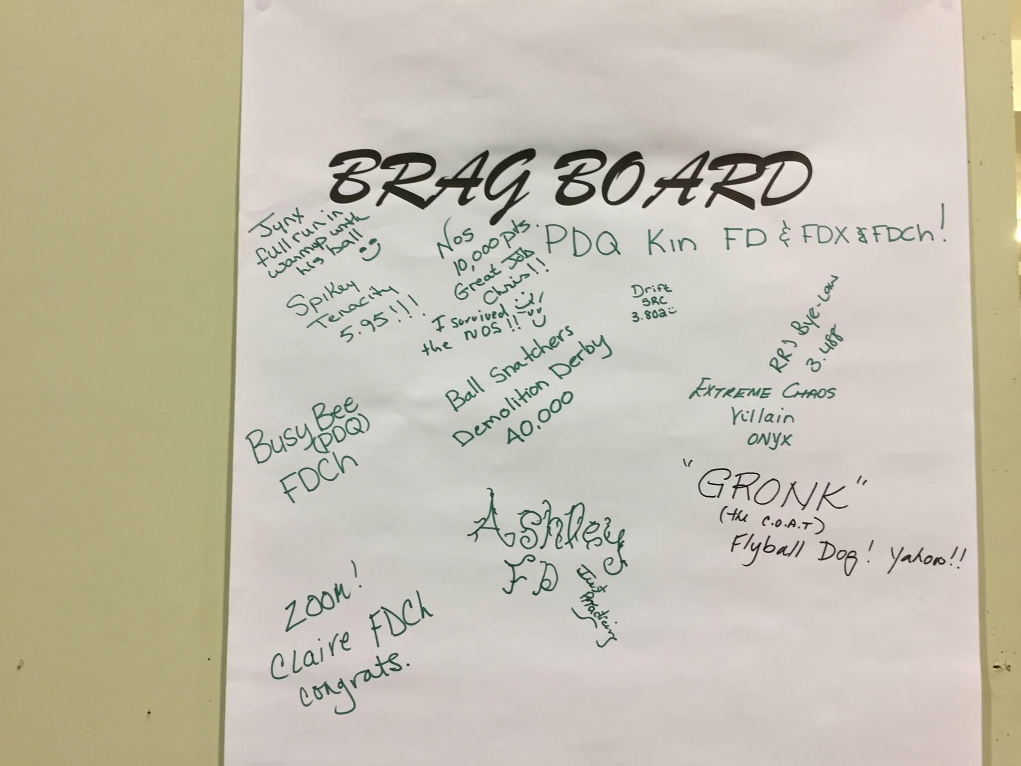 July 2017 Brag Board