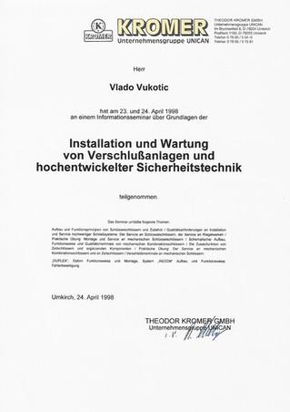 19 1998-04 Kromer Installation-Wartung V