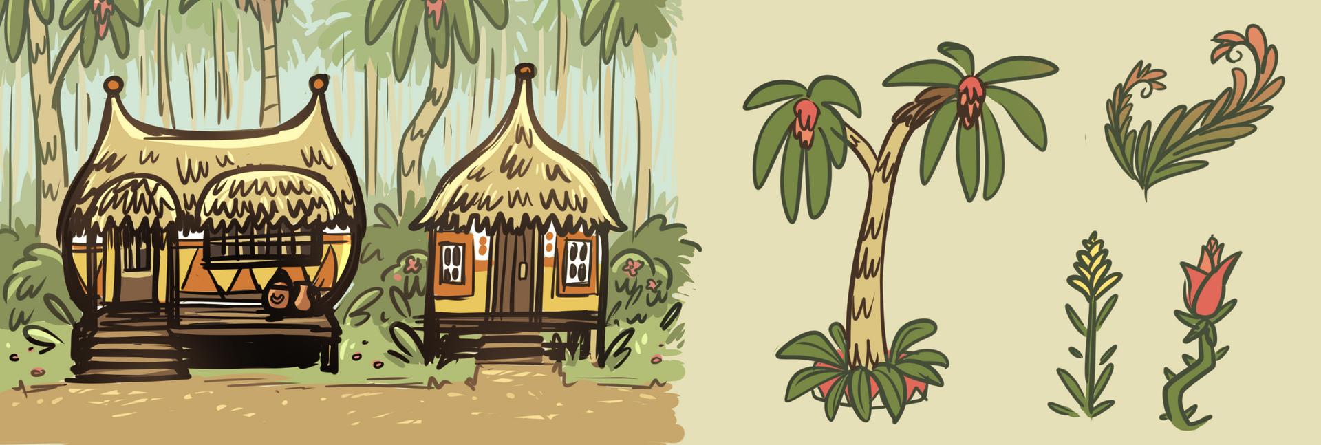 Village concept art