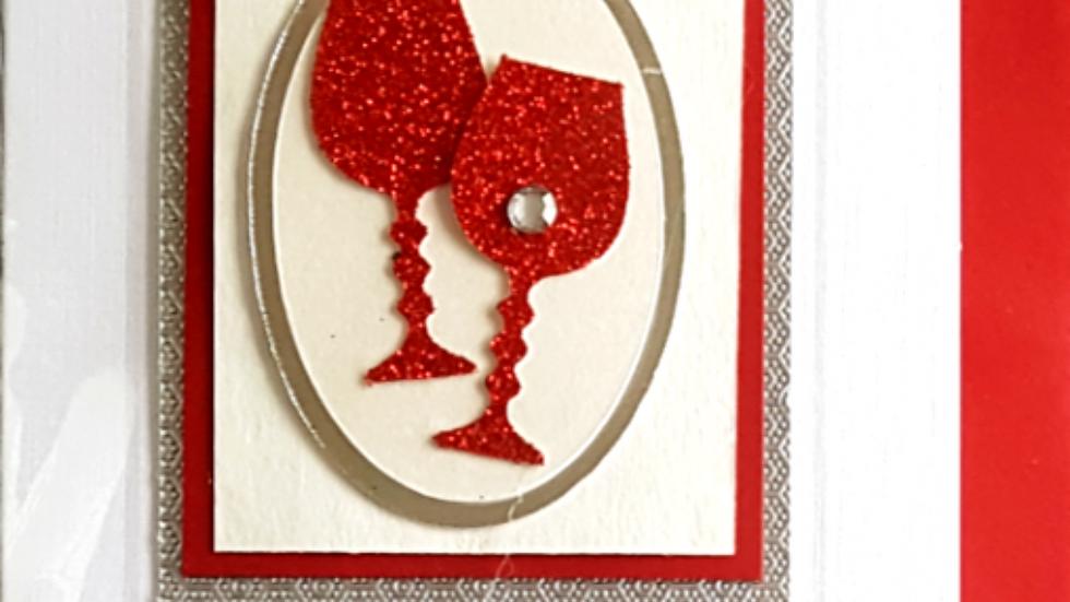 MW13 - Ruby anniversary money gift wallet