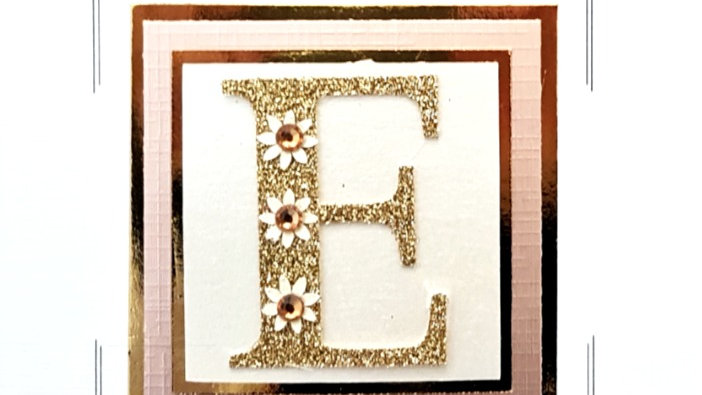His n Hers Initial E female personalised birthday card