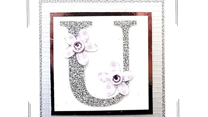 His n Hers Initial U female personalised birthday card