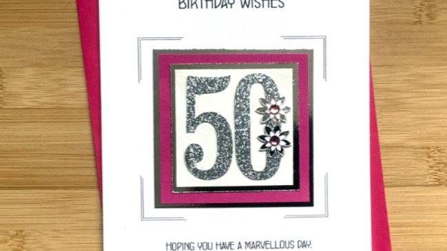 LC 5 - 50th female birthday card