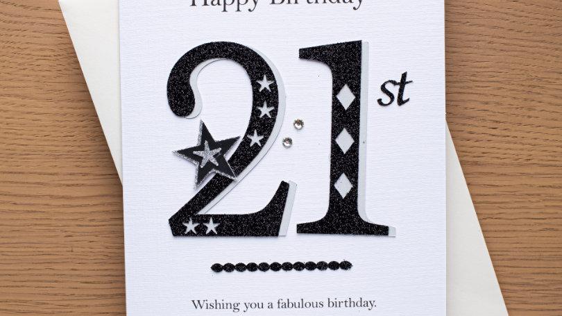 male 21st birthday (A9)