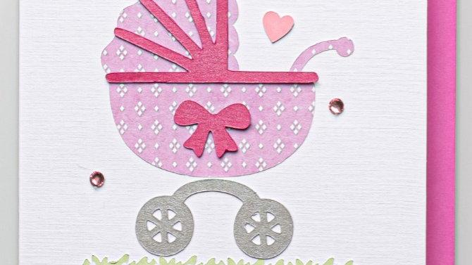 Baby Girl card (SA5)