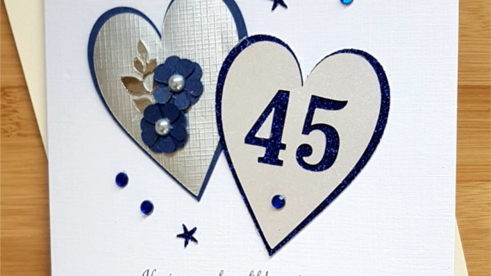 Sapphire (45th ) anniversary for mum and dad (A43)