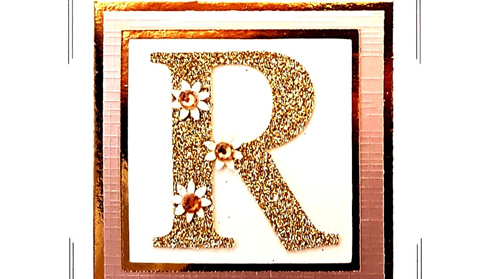 His n Hers Initial R female personalised birthday card