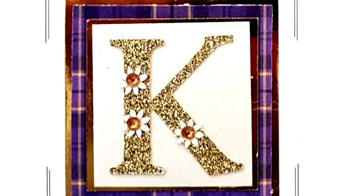 His n Hers Initial K female personalised tartan birthday