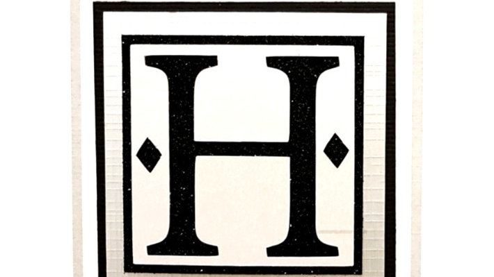 His n Hers Initial H male personalised birthday card
