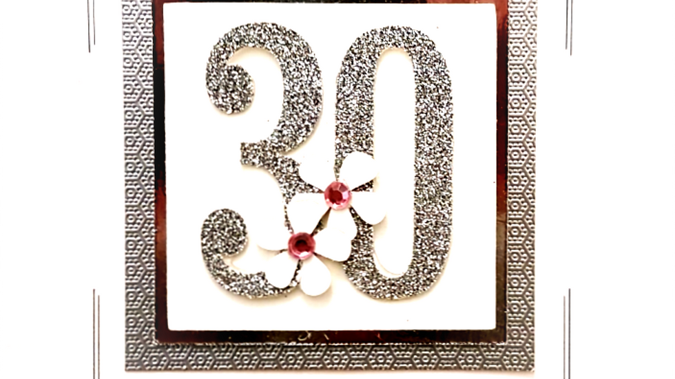 LC3 - 30th female birthday card
