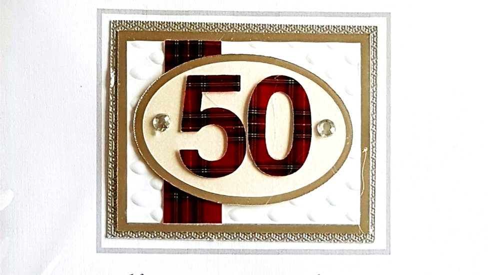 BS155 - 50th male birthday card