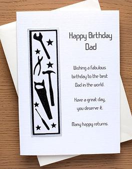 A20 Dad birthday card