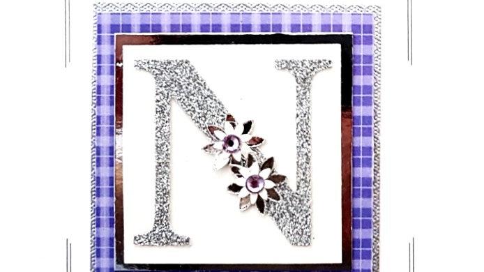 His n Hers Initial N female personalised tartan birthday