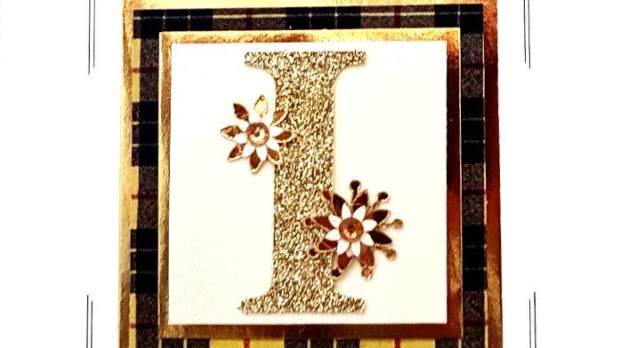 His n Hers Initial I (i) female personalised tartan birthday