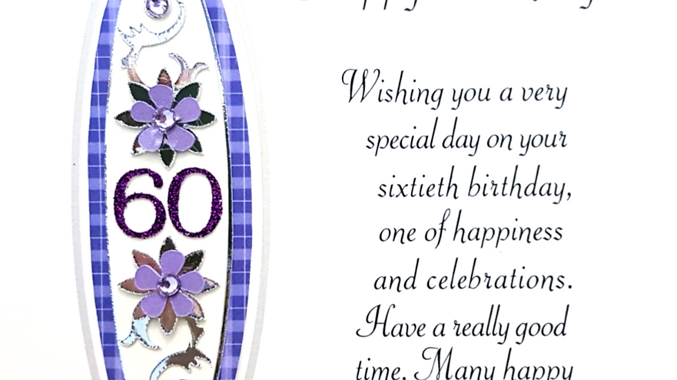 BS256 60th - female birthday