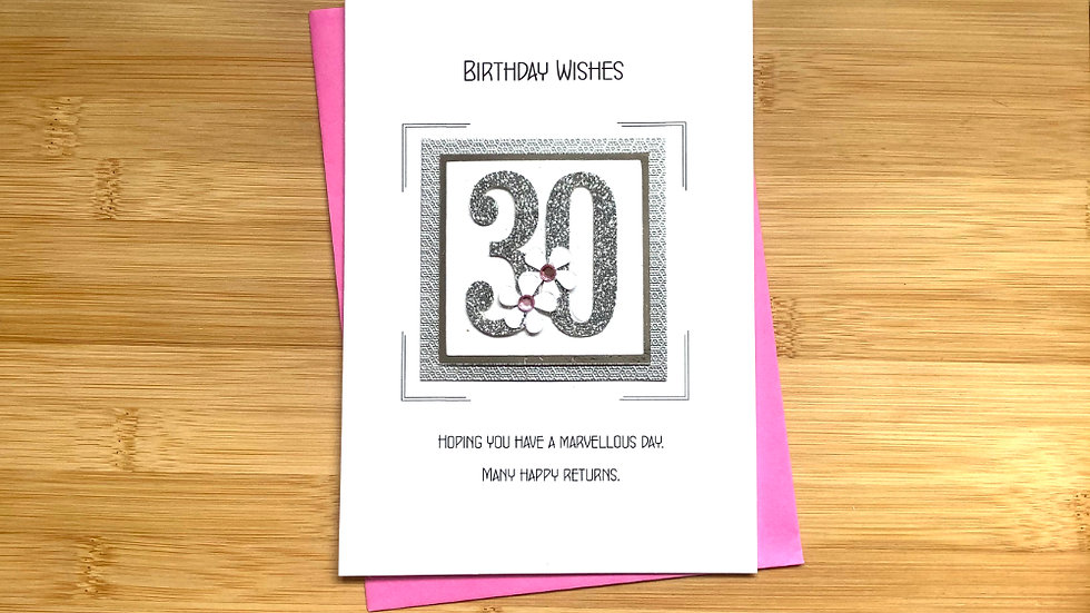 30th female birthday card ( LC3 )