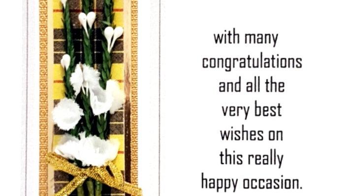 Congratulations card with yellow tartan (CTW36)