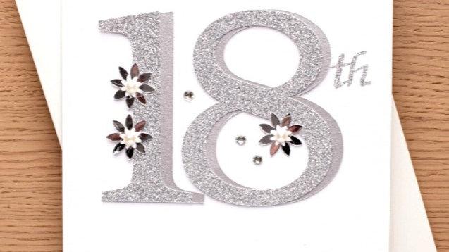 18th birthday card ( female ) (A1)