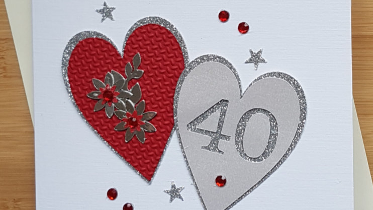 Ruby ( 40th ) anniversary personalised ( available not personalised )