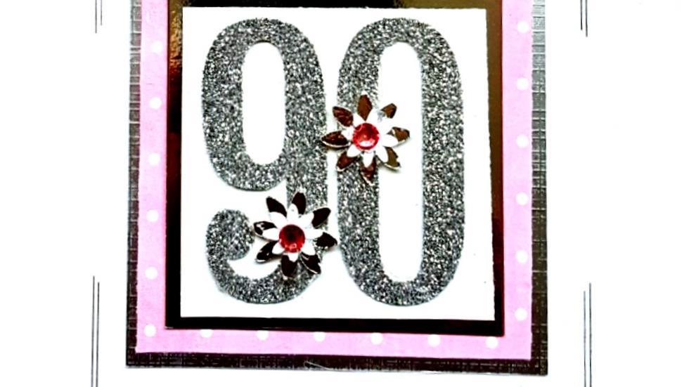 LC9  90th female birthday card