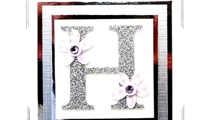His n Hers Initial H female personalised birthday card