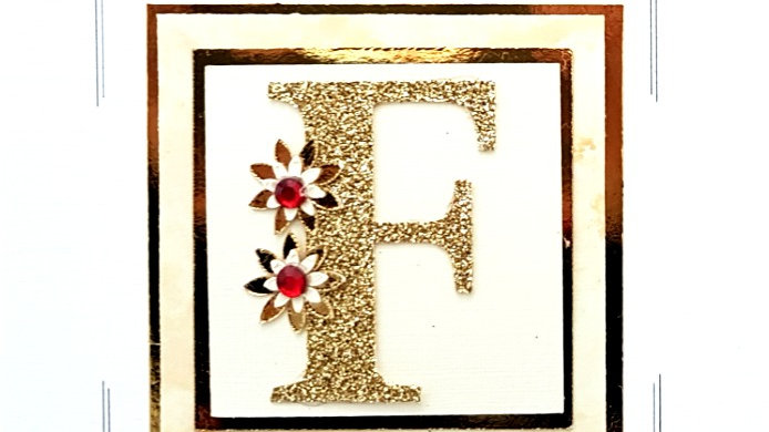 His n Hers Initial F female personalised birthday card