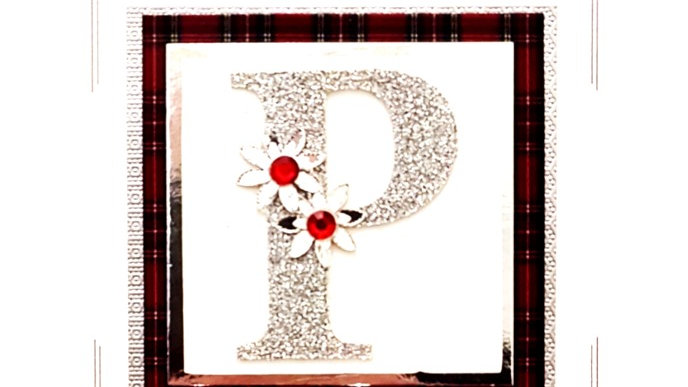 His n Hers Initial P female tartan personalised birthday