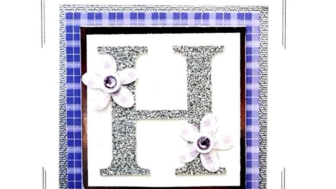 His n Hers Initial H female personalised tartan birthday