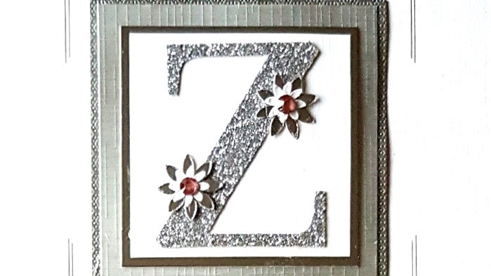 His n Hers Initial Z female personalised birthday card