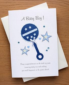 baby boy rattle design